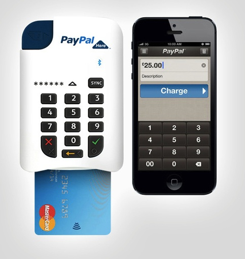 paypal mobile credit card reader/swiper for iphone and android devices