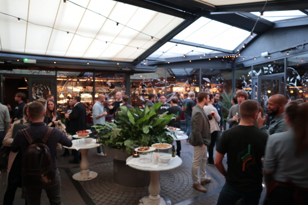 Networking drinks at #appcommerce 2017