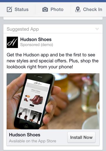 hudson shoes facebook ad