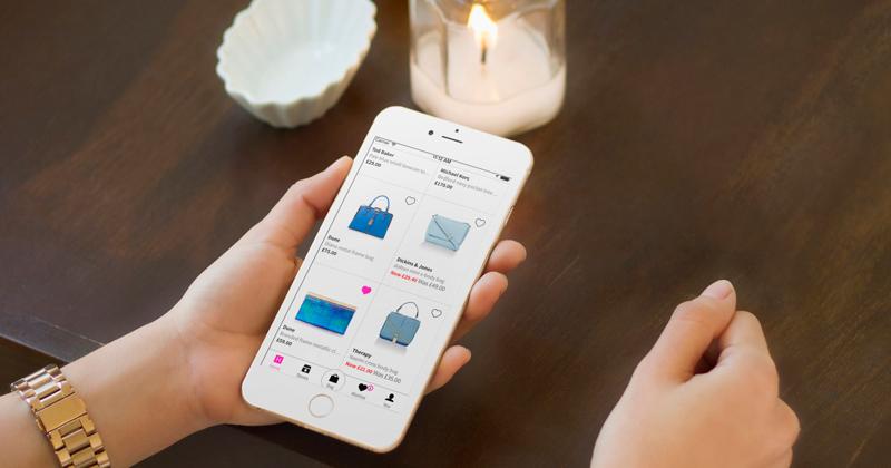 browsing bags on app