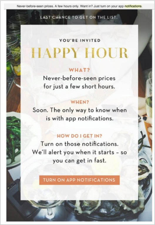 Happy hour | Urban Airship | Poq