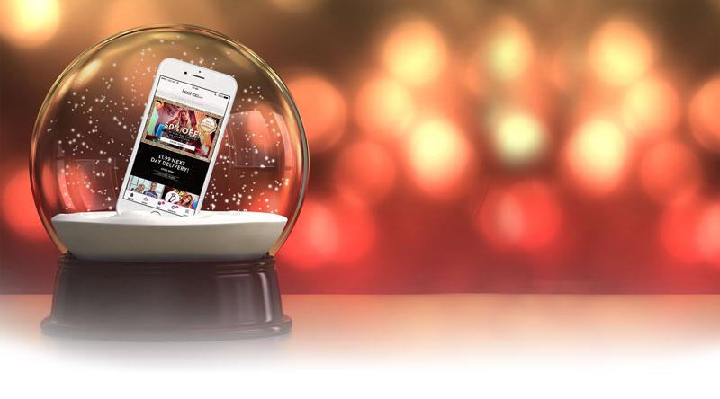boohoo mobile app at christmas