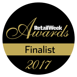 RetailWeek Awards finalist badge | Poq - the app commerce company