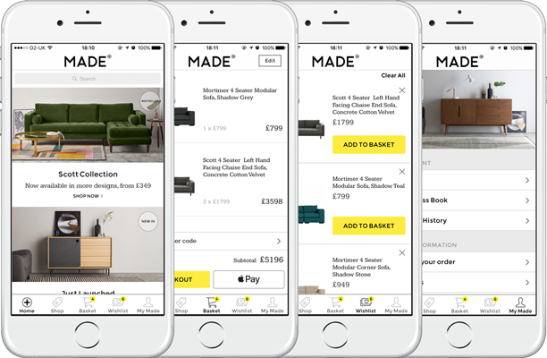 New MADE.com app in the App Store | Poq - the app commerce company