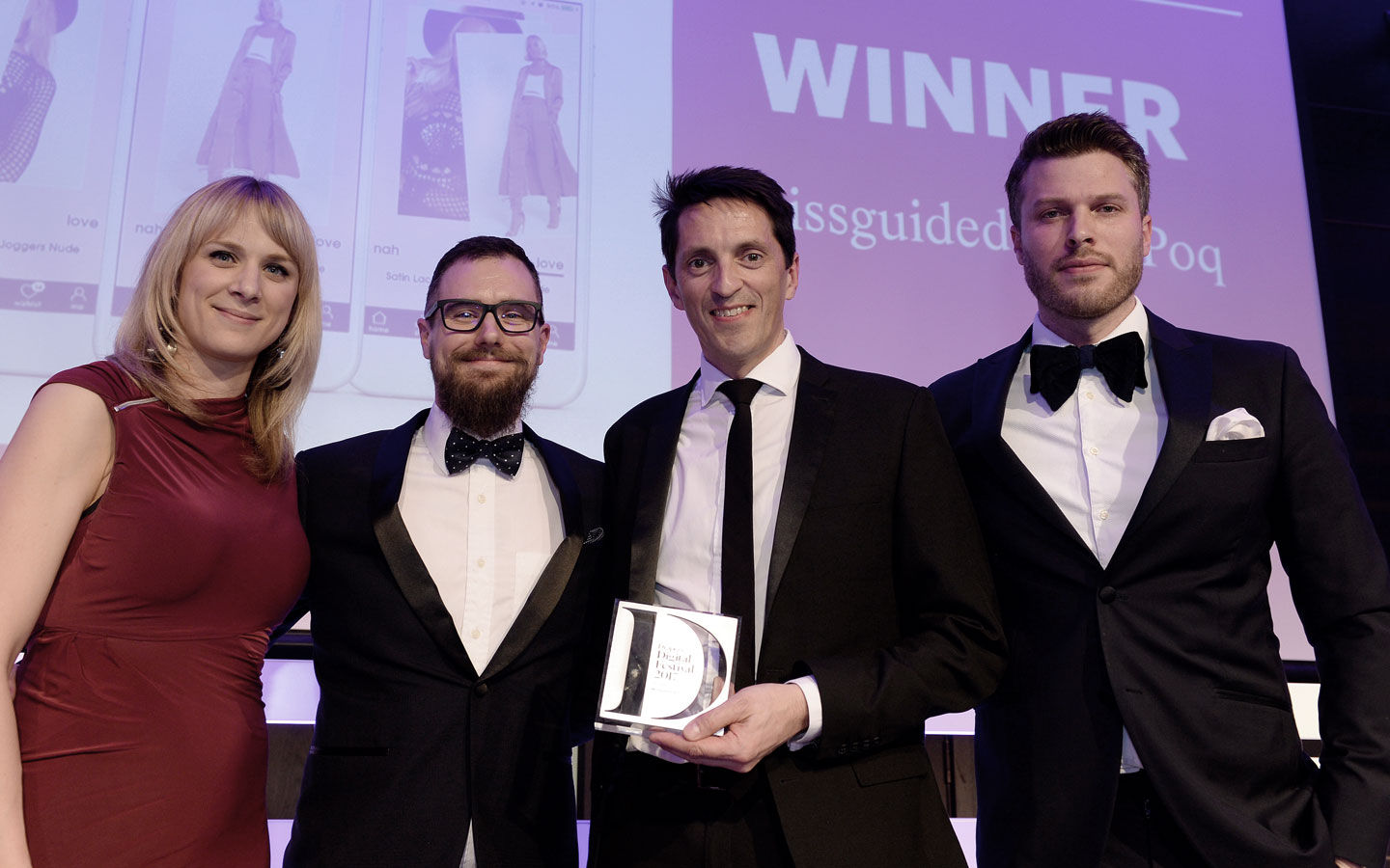 Missguided Best App Drapers award | Poq - the app commerce company
