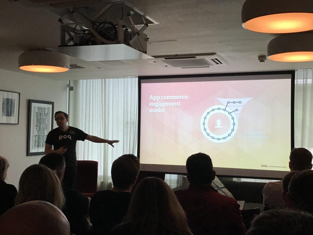 Poq's app commerce engagement model