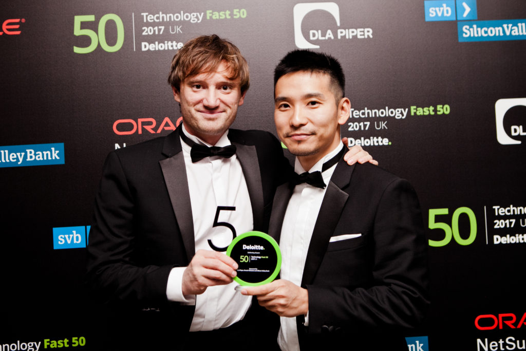 Michael Langguth & Jun Seki at Deloitte Fast50 Awards 2017