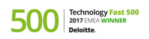 Deloitte Fast500 Winner EMEA logo | Poq - the app commerce company