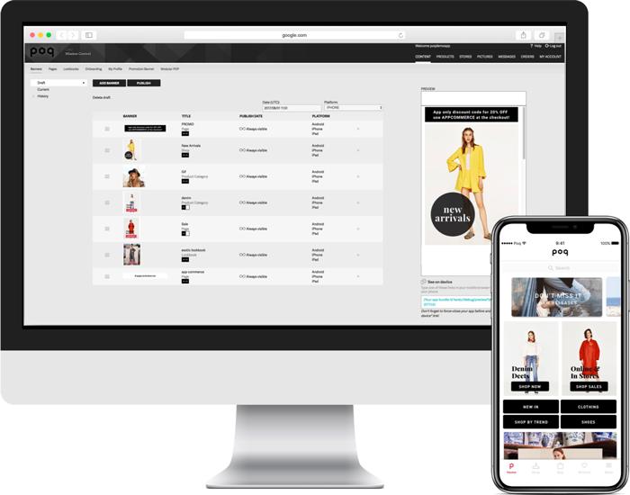 The Poq CMS | Poq - the app commerce company