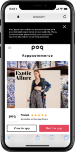 Poq demo mobile website | Poq - the app commerce company