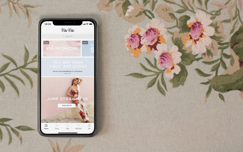 Chi Chi London PR blog header | Poq - The app commerce company