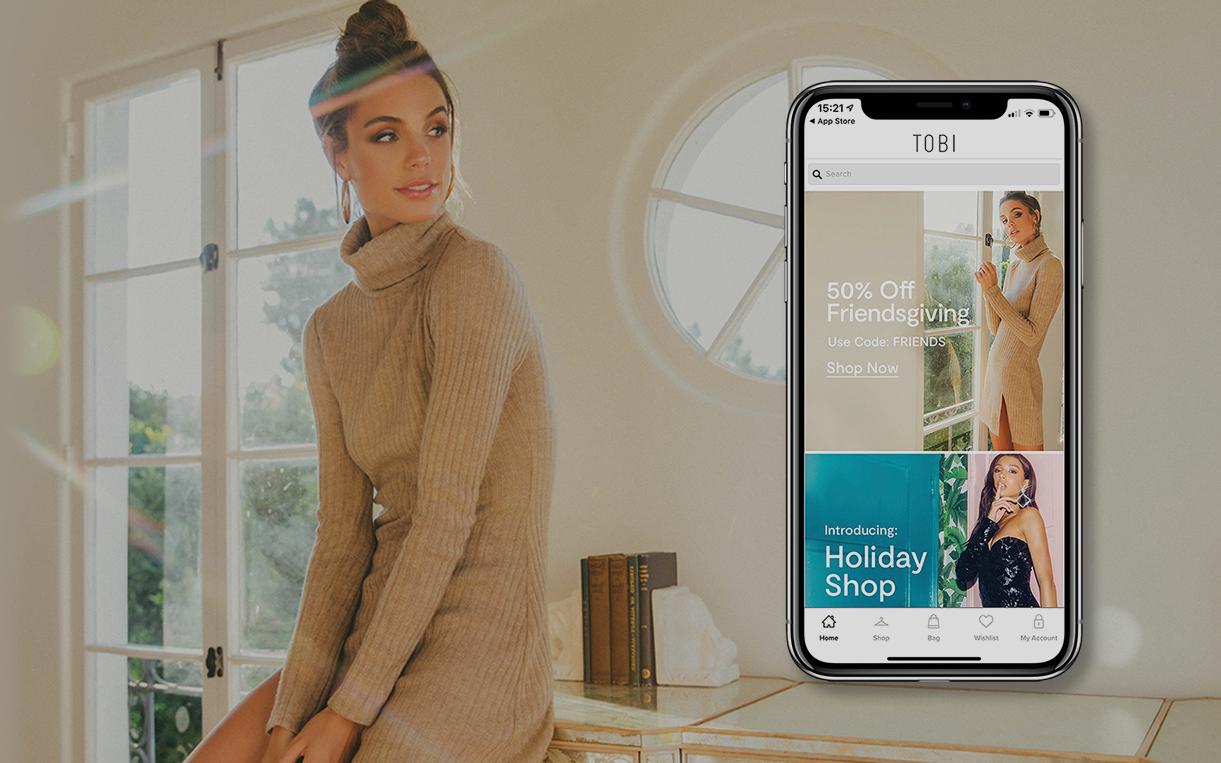 Tobi press release blog header | Poq - The app commerce company