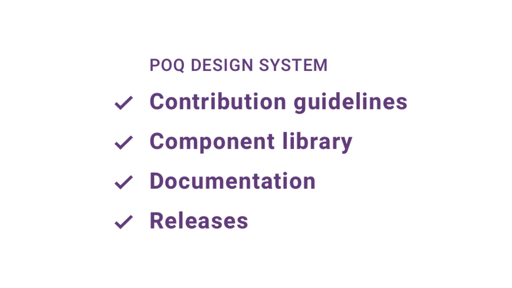 Main components design system | Poq - The app commerce company