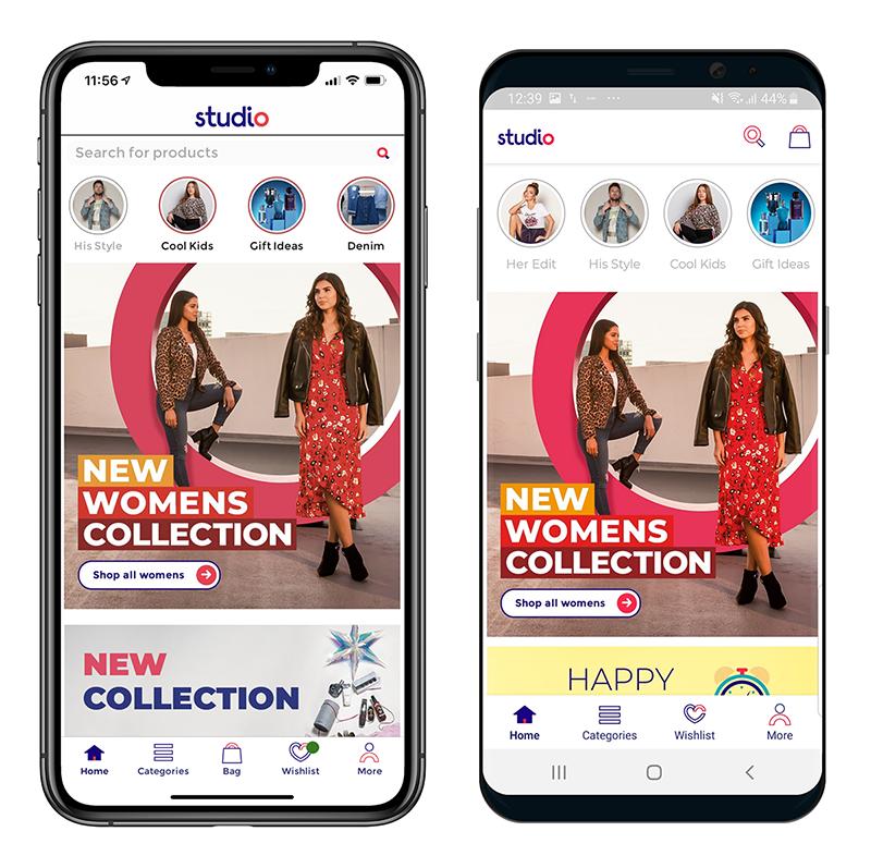 Studio iOS & Android homescreen