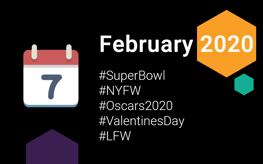 February 2020 Calendar header