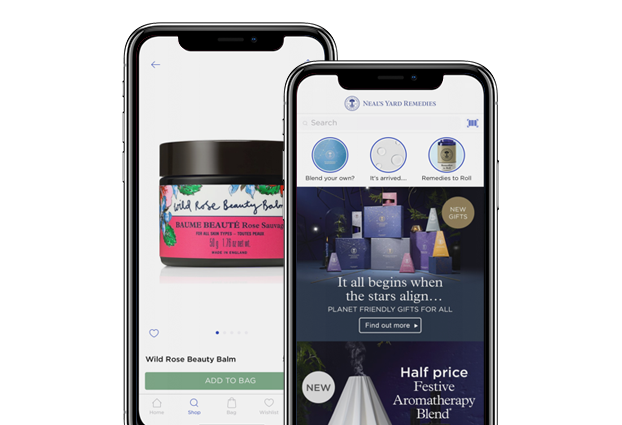 Neal's Yard Remedies app screenshots