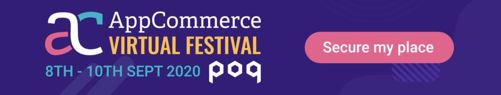 App Commerce  Virtual Festival - Secure my place
