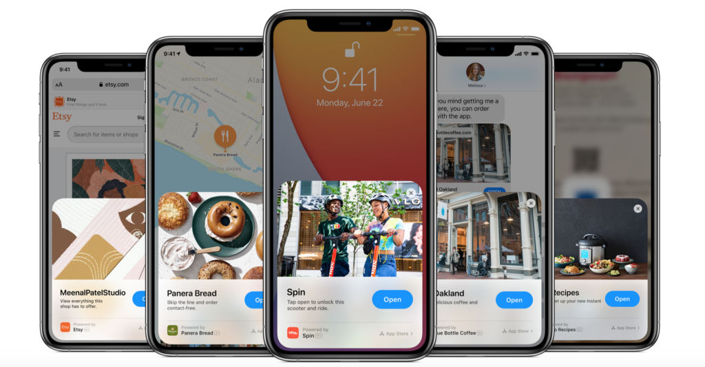 App Clips Screenshots